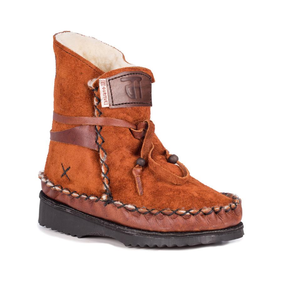 Gurmuki Sheep Wool Boots Rust