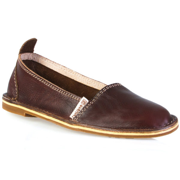 Leather Pumps Chocolate