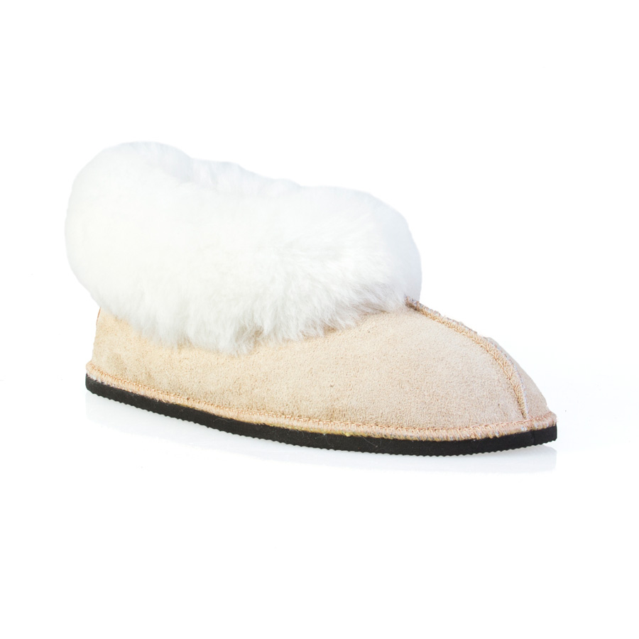 Gurmuki Sheepskin Slippers are Handmade of 100 % Leather Suede 100% Sheep's wool lining and sheepskin collar. The Design is for Comfort and versatility ! All Gurmuki Products are Handmade with Love, Proudly South African !