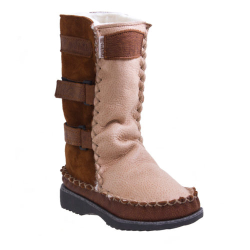 Gurmuki Sheep's Wool TRIBAL Handmade Boots in TALLLength, fits your Calf and is made of 100 % Leather Suede and Leather, 100% Sheep's wool lined throughout the boot including the foot bed with a 100% TR Rubber Sole. The new design is Stylish and Functional with the addition of the straps. In the Native American Indian Moccasin Boots Style, it is Unique, Stylish and Durable, not to mention Comfortable like wearing your slippers outside ! All Gurmuki Products are Handmade with Love, Proudly South African ! 2Tone Sheepskin Boots